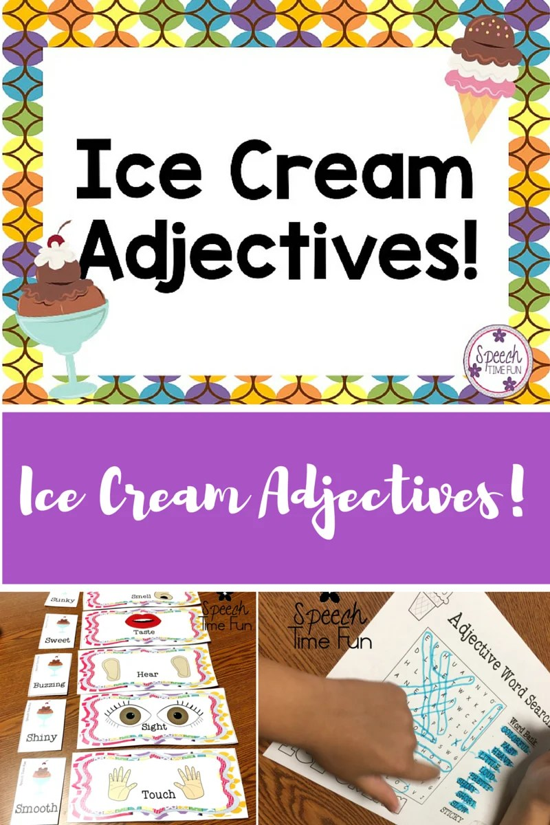 hight resolution of Ice Cream Adjectives! - Speech Time Fun: Speech and Language Activities