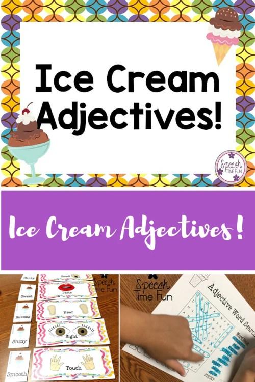small resolution of Ice Cream Adjectives! - Speech Time Fun: Speech and Language Activities