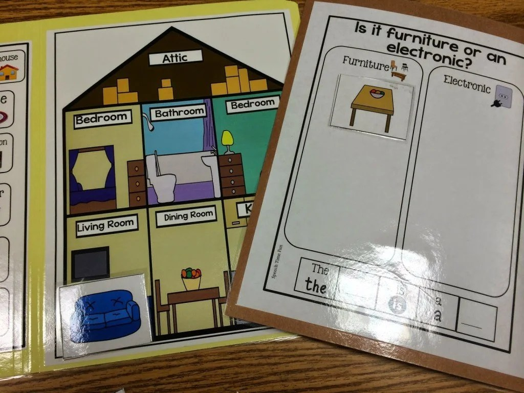 Fill The House File Folder Activity Great For Students