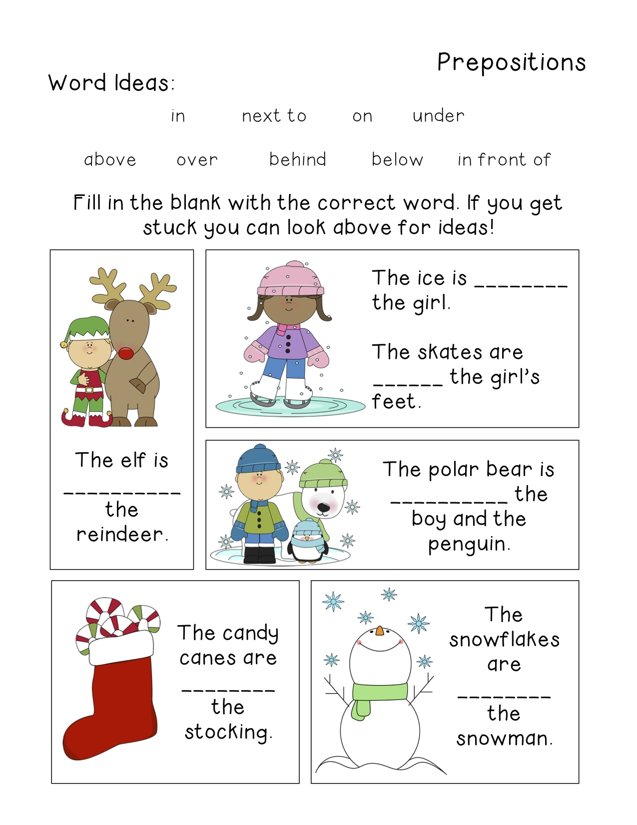 Prepositional Phrase Worksheet Middle School