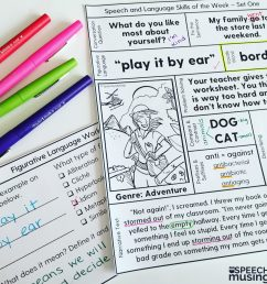 Speech Therapy Printables for Upper Grades: One Page Lessons [ 2048 x 2048 Pixel ]