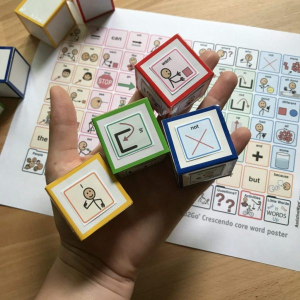 Aac Core Vocabulary Symbol Dice Speech Therapy