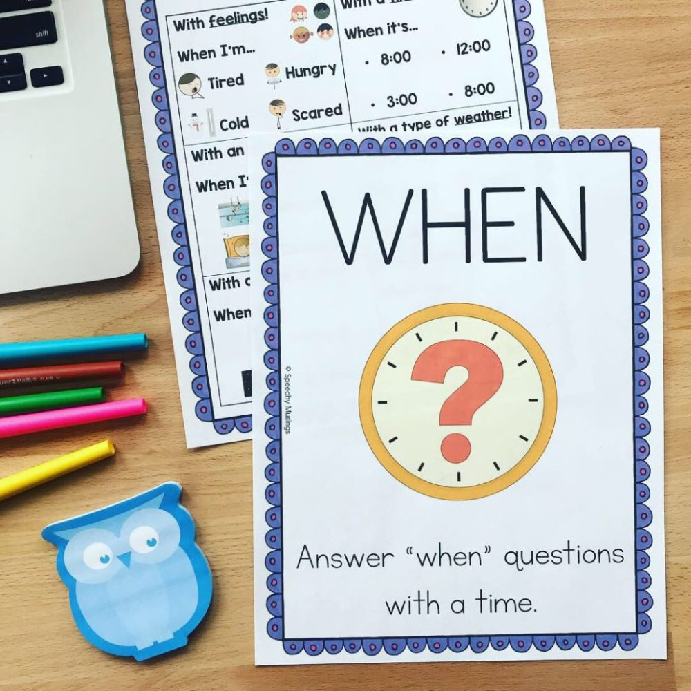 medium resolution of 5 Activities to Work on WH Questions in Speech Therapy   Speechy Musings