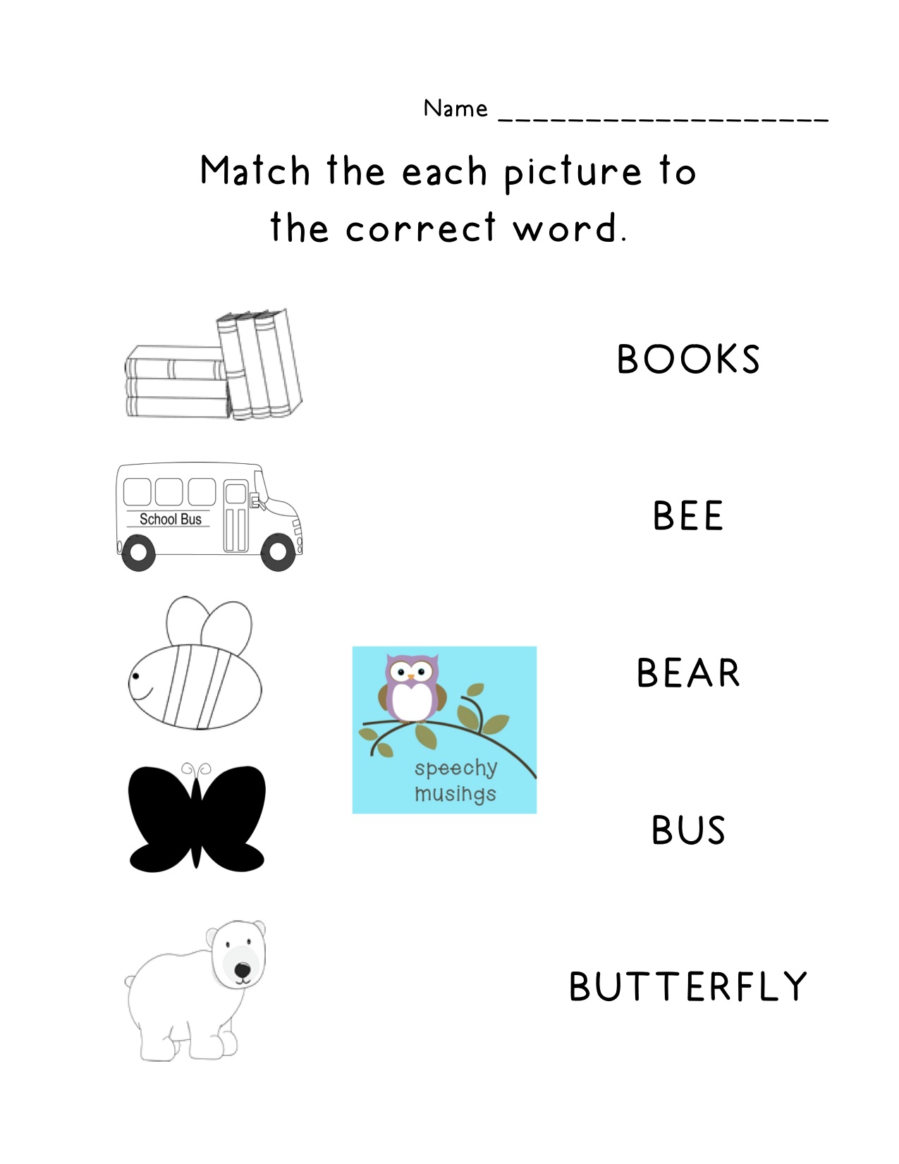 Articulation Homework Packets
