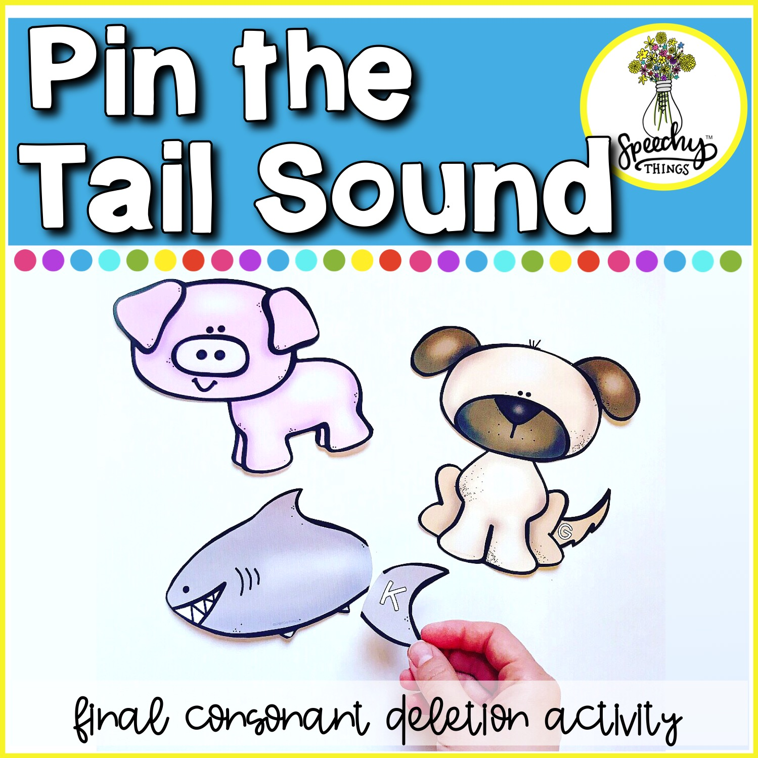 Pin The Tail Sound Final Consonant Deletion Activity