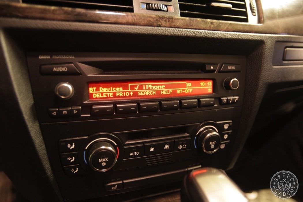 E60 Aux Input Wiring Diagram Bmw E92 E90 Bluetooth Handsfree Install Speed Academy