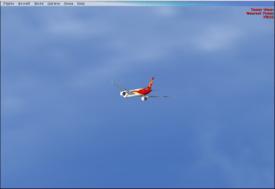 Airborne.