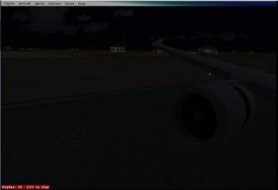 Landing in Beijing.