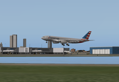 Over the numbers for Runway 15R.