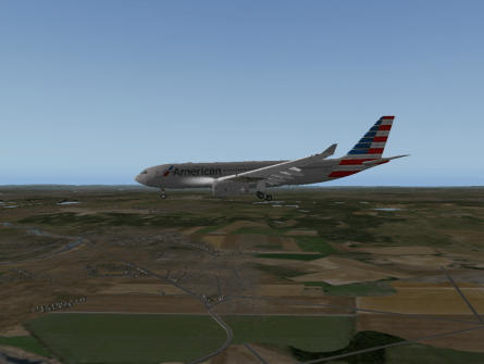 Gear down and flaps down.