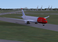 Off the runway, with a BA 747 coming in behind.