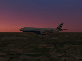 Coming in on the approach to Runway 8R to Gatwick.