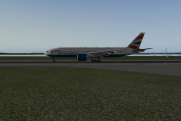 On the ground after landing Runway 9 at Liverpool John Lennon.