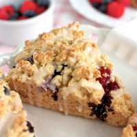 Red, White and Blue Scones