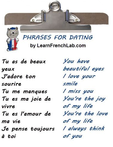How To Say I Like Your Picture In French French Love Phrases For Him And