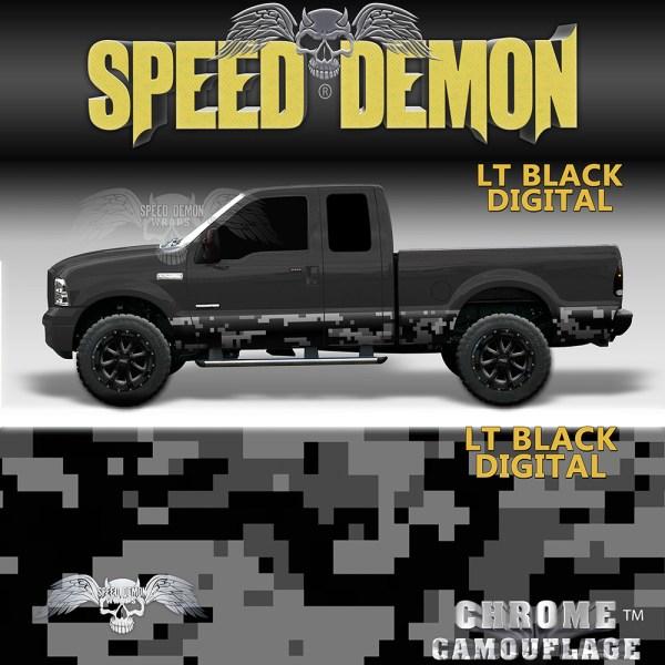 LT Black Digital Camo Rocker Panel Wrap
