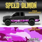 Pink Rocker Panel Camo Pink Woodland Camouflage