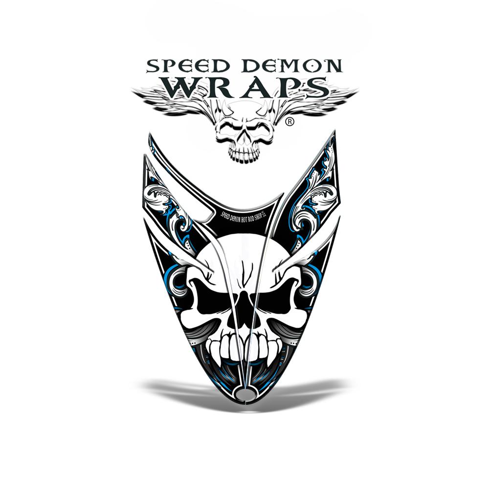 RMK Dragon Skullen HOOD GRAPHICS WRAP DECAL BlueRacing
