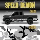 Snow Urban Camo Rocker Panel Wraps