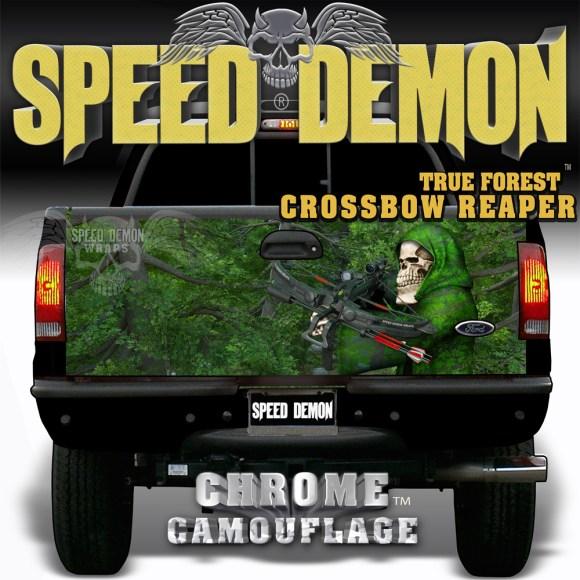 True Forrest Camo w Crossbow Reaper Tail Gate Wraps