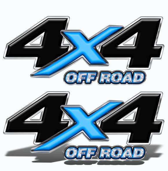 6x6 Off Road Dually Truck Side Decals Truck Decals for Dually Blue Black Mk05OR6