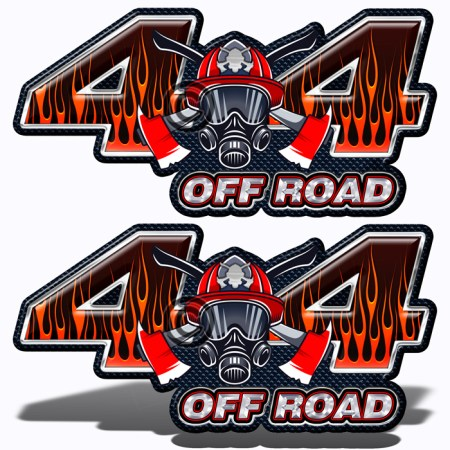Fire Fighter 4x4 Truck Off Road Decals