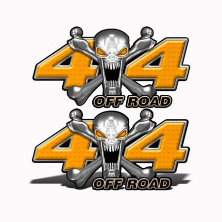 Mk406OR4-4x4-Off-Road-Stainless-Steal-skull-Head-Orange