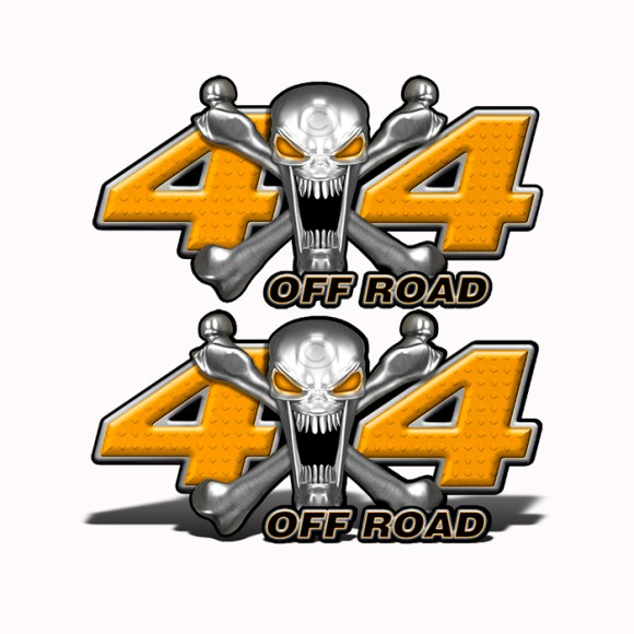 Mk406OR4-4x4-Off-Road-Stainless-Steal-skull-Head-Orange