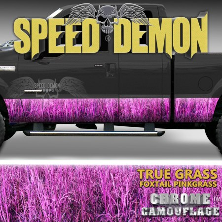 Foxtail Pink High grass camouflage Rocker Panel Wraps