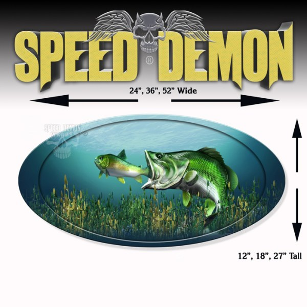 5th Wheel Trailer Graphics Large Mouth Bass