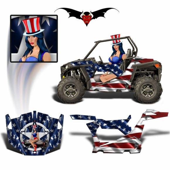 American Flag Graphics Wrap Kit