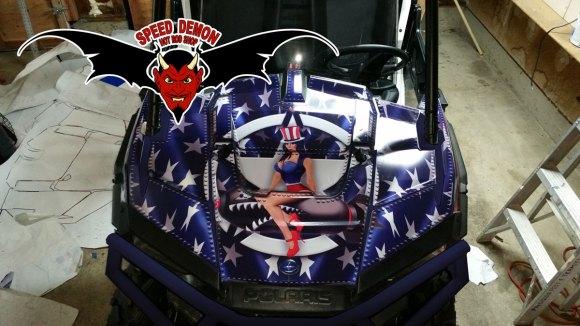 American Flag RZR Wrap