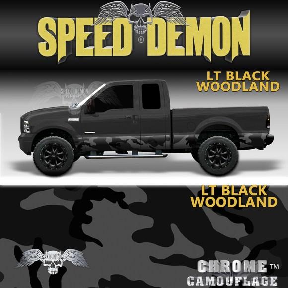 Black Camo Rocker Panel Wrap Camouflage