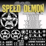 Military Jeep Star Circle Skull Decal Kit White vinyl