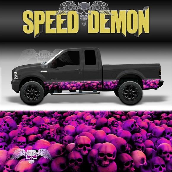 Skull Crusher Rocker Panel Wrap Pink