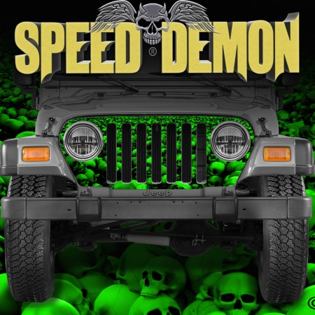 Jeep Wrangler Grill Wraps Skulls Skull Crusher Green