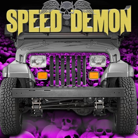 Jeep Grill Wraps Skulls Pink Camo