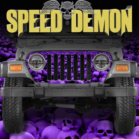 Jeep Wrangler Grill Wraps Skulls Skull Crusher Purple