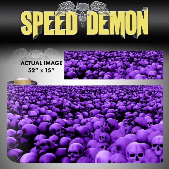 Skulls Vinyl Wrap Sheet Purple