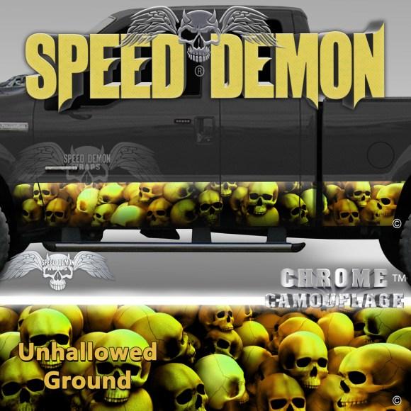 Skull Truck Rocker Panel Wraps Gold Skulls Unhallowed Ground