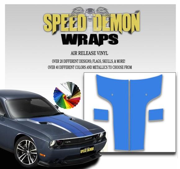 Dodge Challenger Hood Stripes Blue