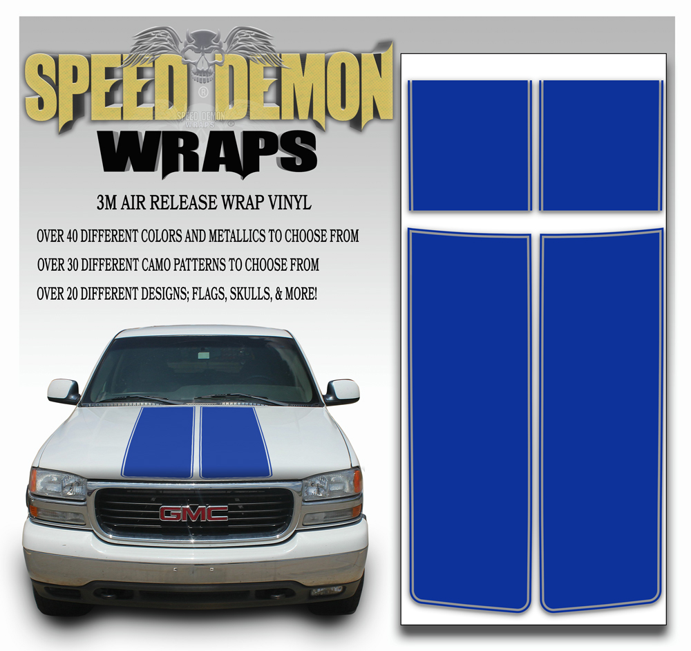 GMC Sierra Stripe Kit Blue 2000-2006