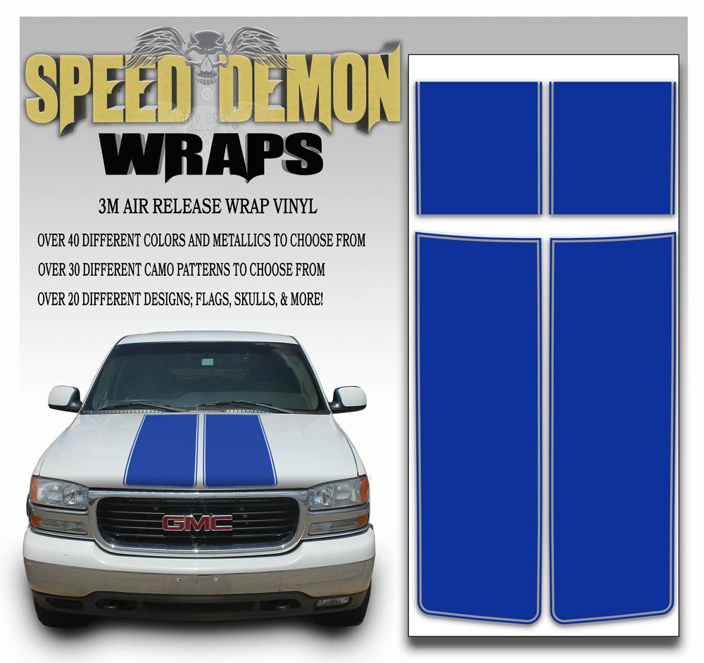 GMC Sierra Stripe Kit Blue 2000-2006