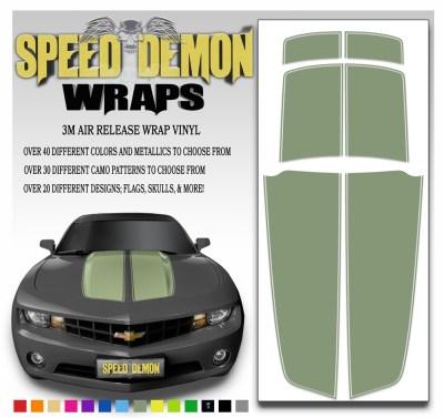 Camaro Stripes Army Green 2010-2011-2012-2013-2014-2015