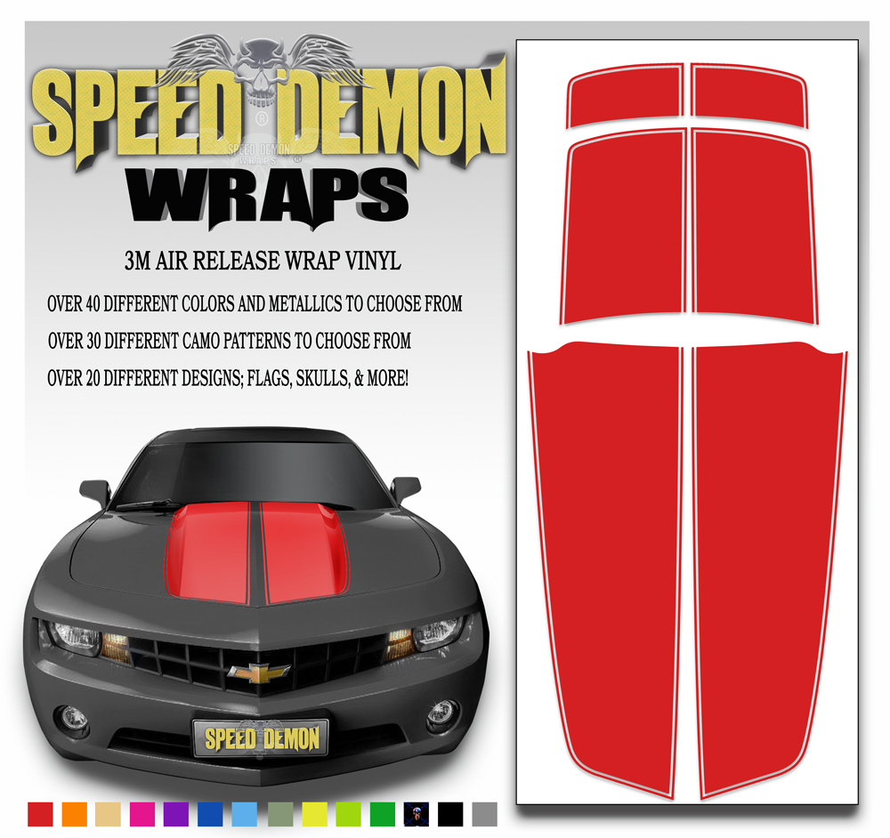 Camaro Stripes Red 2010-2011-2012-2013-2014-2015