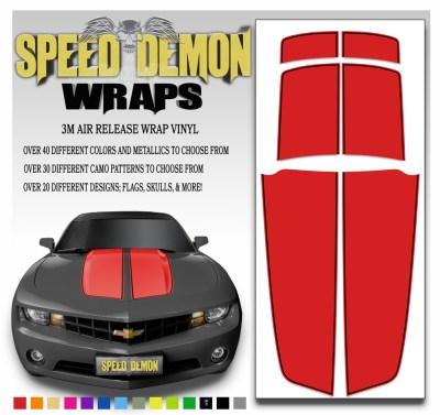 Camaro Stripes Red Stripe With Black Pin Stripe 2010-2011-2012-2013-2014-2015