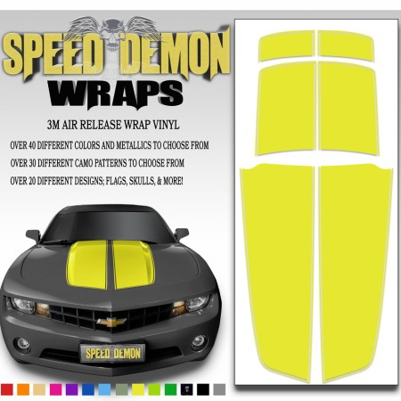 Camaro Stripes Yellow 2010-2011-2012-2013-2014-2015