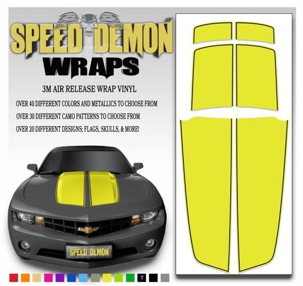 Camaro Stripes Yellow with Black Pin Stripe 2010-2011-2012-2013-2014-2015