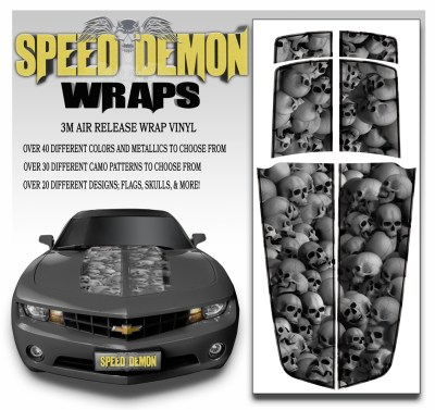 Camaro Stripes Skulls With Black Pin Stripe 2010-2011-2012-2013-2014-2015