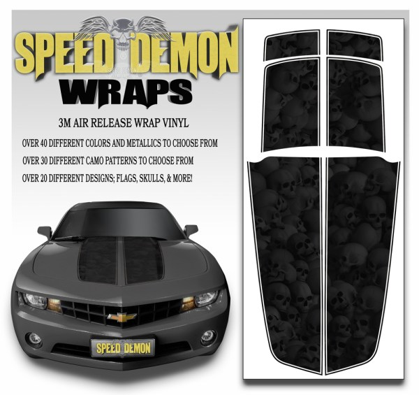 Camaro Stripes Heavily Ghosted Skulls 2010-2011-2012-2013-2014-2015